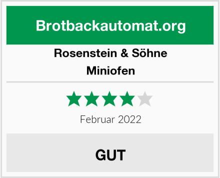 Rosenstein & Söhne Miniofen Test