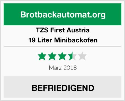 TZS First Austria 19 Liter Minibackofen Test