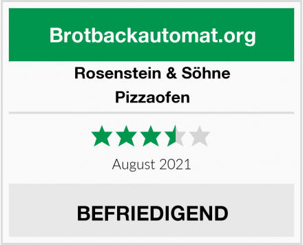 Rosenstein & Söhne Pizzaofen Test