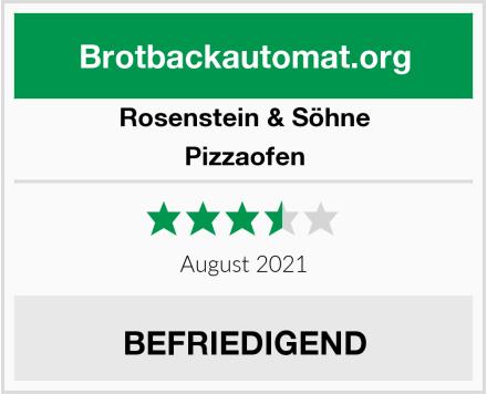 Rosenstein & Söhne  Pizzaofen Test