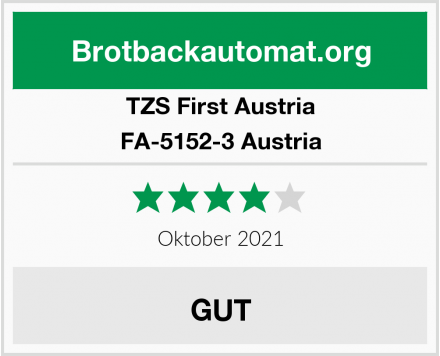 TZS First Austria Brotbackautomat Test