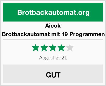 Aicok Brotbackautomat mit 19 Programmen Test