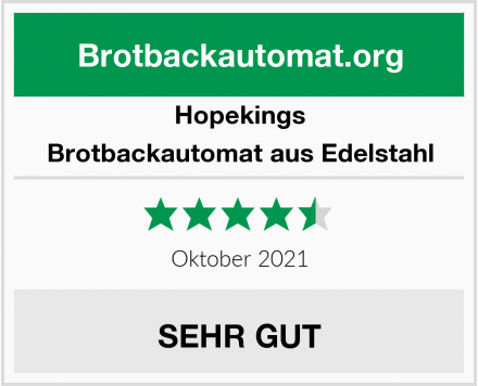 Hopekings Brotbackautomat Test