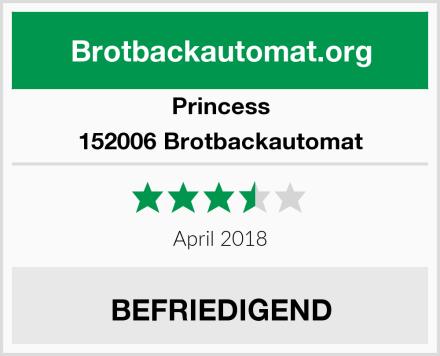 Princess 152006 Brotbackautomat Test