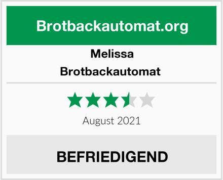 Melissa Brotbackautomat  Test