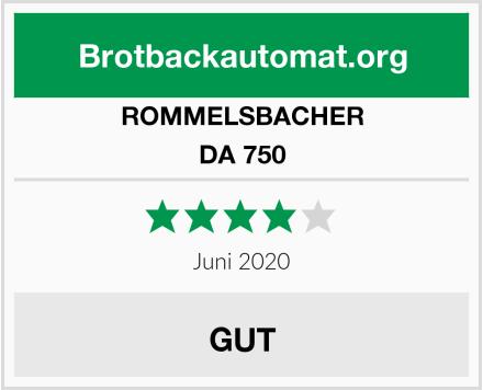 ROMMELSBACHER DA 750 Test