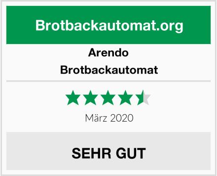Arendo Brotbackautomat Test