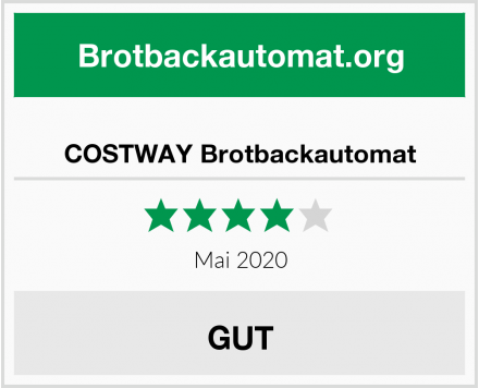 COSTWAY Brotbackautomat Test
