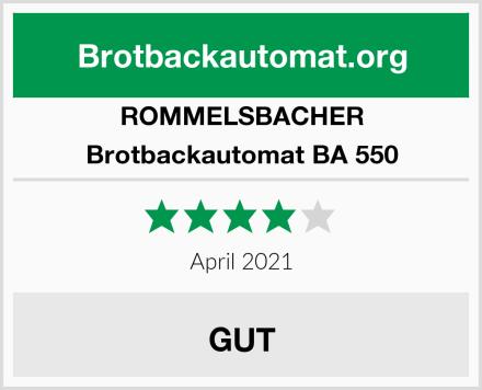 ROMMELSBACHER Brotbackautomat BA 550 Test
