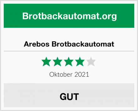 Arebos Brotbackautomat Test