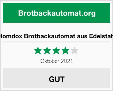 Homdox Brotbackautomat aus Edelstahl Test