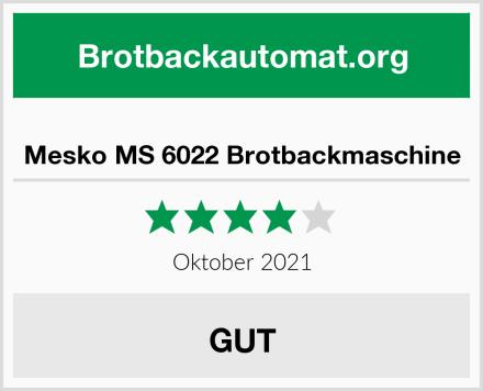 Mesko MS 6022 Brotbackmaschine Test