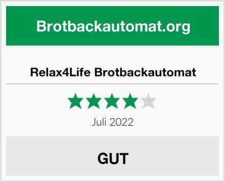Relax4Life Brotbackautomat Test